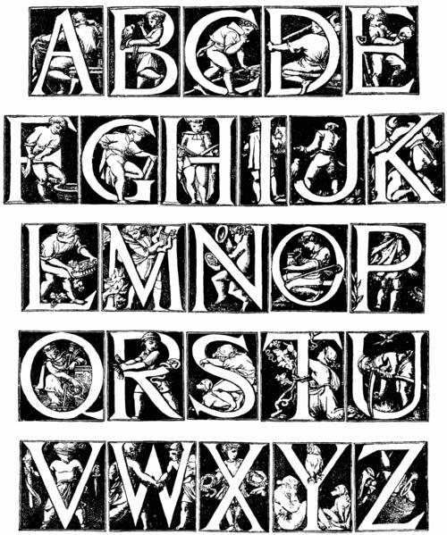 Alphabet designed by godfrey sykes