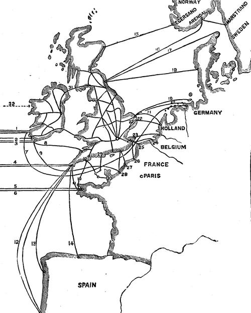 Hernando Cortes Route Map
