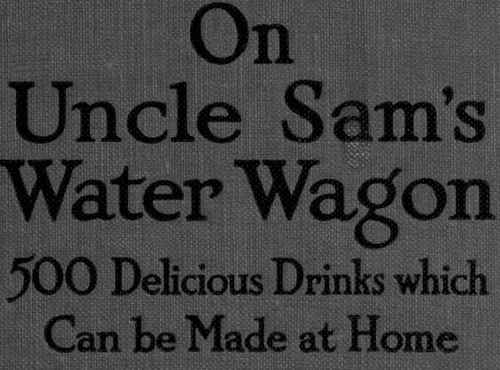 Fig.  On Uncle Sam's Water Wagon.