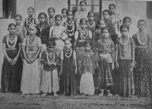 Connaught School For Girls. A group of girl brides from