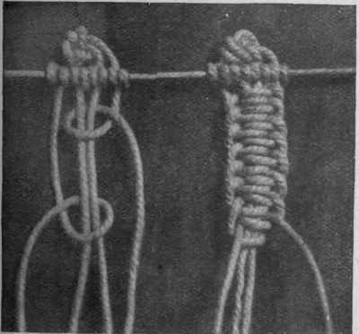 The single Genoese bar, a most effective knot, requires four threads