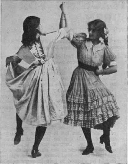 Vogue Dance Steps http://chestofbooks.com/food/household/Woman-Encyclopaedia-3/Fancy-Dances-For-Children-4-The-Gavotte-Part-2.html