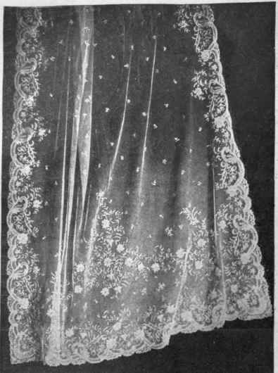 The wedding veil of Hm the Queen of Italy an exquisite specimen of modern