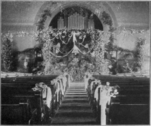 Church Decoration for a Wedding There is usually a stage in the hall and