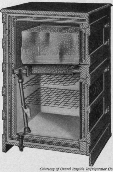 Fig. 115. Mrs. Allenu0027s refrigerator is built with double walls made of nonconducting & Lesson 27. The Care Of Food Aboutintivar.Com