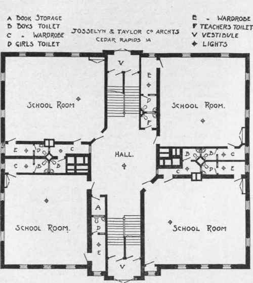 Examples of plumbing in schoolhouses for Plumbing blueprints for my house