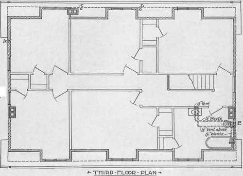 usual type of plumbing plan