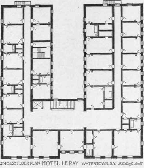 Planning The Plumbing For Hotel Buildings – Plumbing Plans Examples