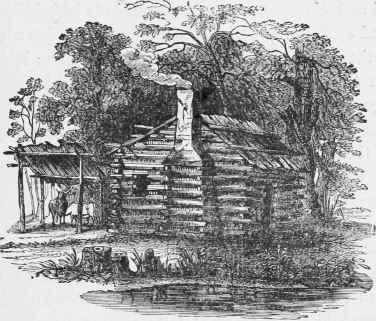 Chapter xiii the primitive house our noble ancestors for Primitive cabin plans