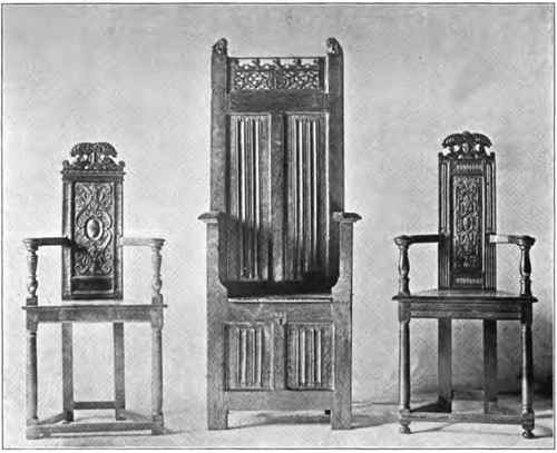 FRENCH CHAIRS, XV AND XVI CENTURIES.