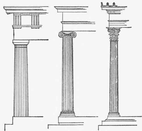 doric ionic corinthian The complete columns clipart gallery provides 56 illustrations of complete columns of various orders including doric, ionic, and corinthian.