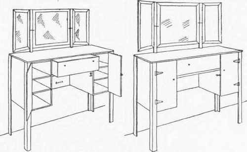 Make vanity table gallery table furniture design ideas how to make triple mirror dressing table watchthetrailerfo