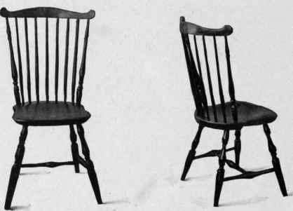 Fan Back Windsor Chairs, Last Quarter Eighteenth Century.