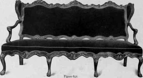 Sofa, Chippendale style, third quarter eighteenth century.