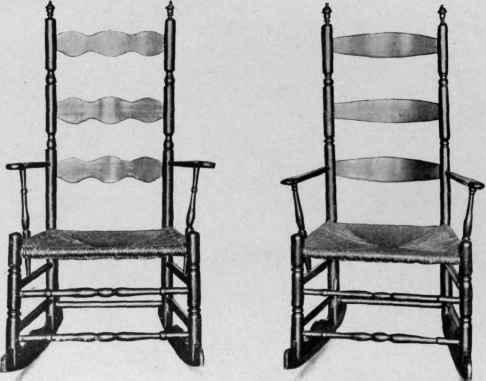 Turned Slat Back Rocking Chairs, 1725 50