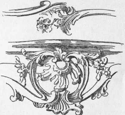 LOUIS XV. END OF MOULDING AND SHELL ORNAMENT.
