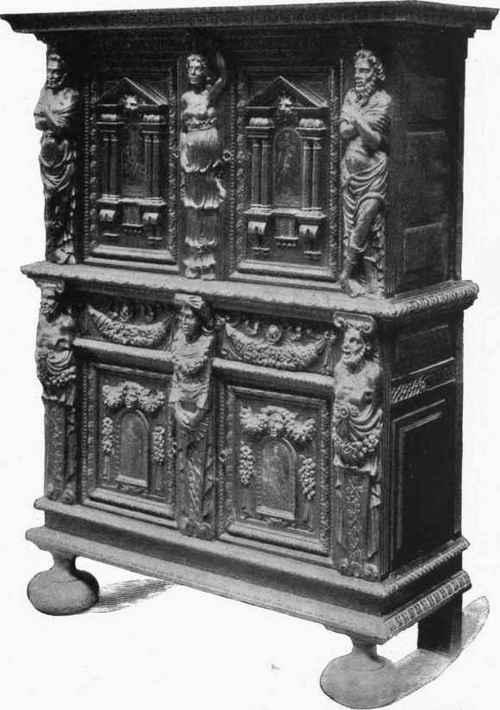PLACARD. Par Hugues Sambin. Moyen d'XVI siècle. Arconati Visconti Collection.