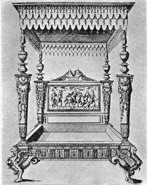 Plate XII. LIT. Après une gravure de Jacques Androuet du Cerceau.