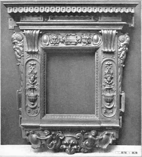 Italian Renaissance Mirror Frame In Carved Walnut Late