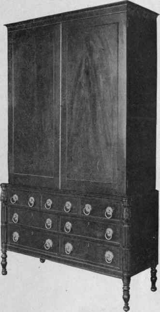 Case Of Drawers With Closet, 1810.