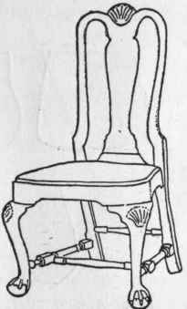 B. Early Queen Anne Side Chair With Stretchers.