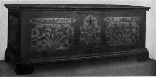 PAINTED PENNSYLVANIA DUTCH DOWER CHEST.