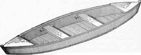 Skiff Or Flat-Bottomed Canoe