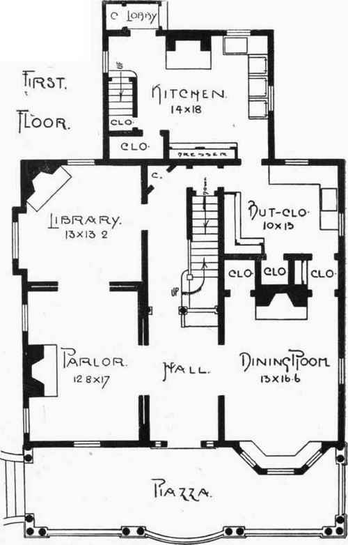 Excellent Floor And Framing Plans For W A Sylvesters House Reading Mass Largest Home Design Picture Inspirations Pitcheantrous