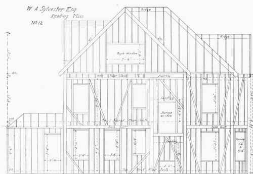 Floor And Framing Plans For W A Sylvester S House