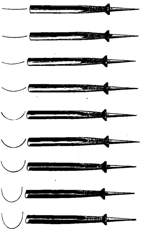 Fig. 32. Straight gouges.