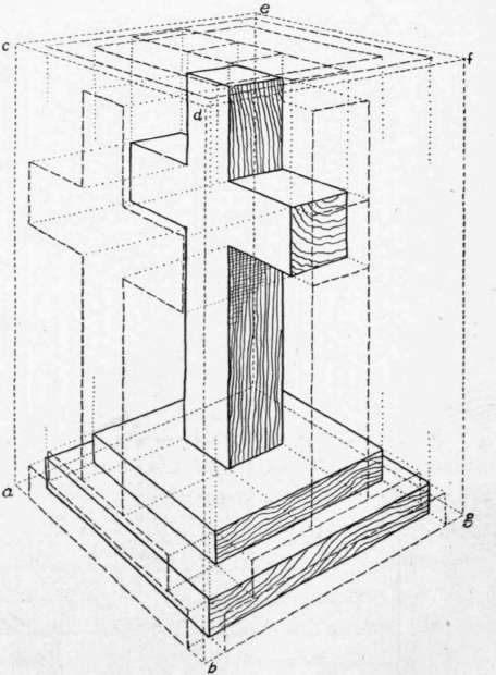 End View Drawing Perspective View of a Cross