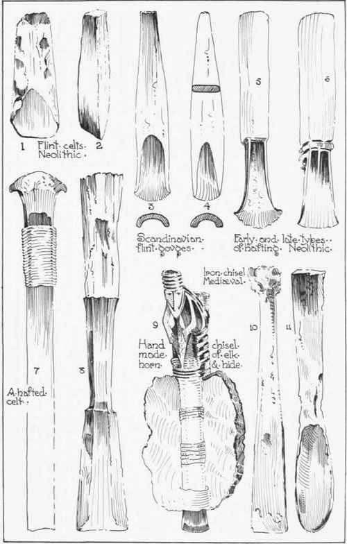 Neolithic Tools and Weapons http://chestofbooks.com/home-improvement/woodworking/Handcraft-in-Wood-And-Metal/The-Chisel.html
