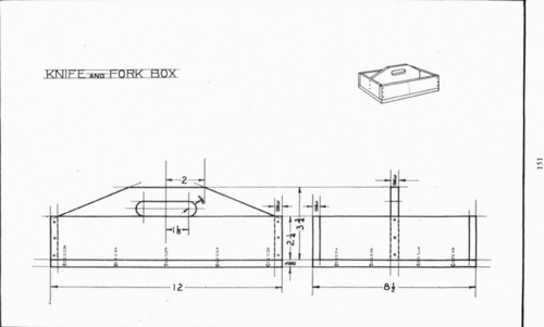 Plate 16 Knife And Fork Box Mechanical Drawing