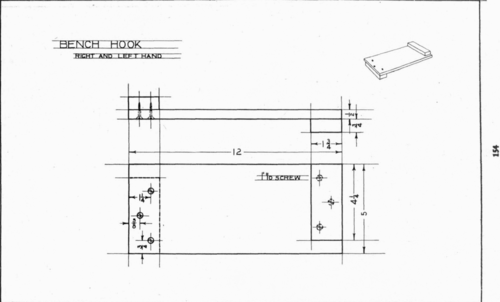 Plate 19 Bench Hook Mechanical Drawing