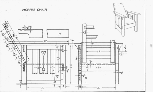 Plate 33 Morris Chair Mechanical Drawing