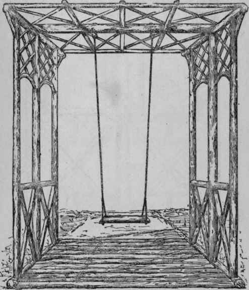 Fig. 101. - General View of Rustic Canopy for Swing.