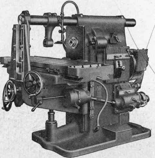 Fig. 224. horizontal milling machine column type courtesy of brown and