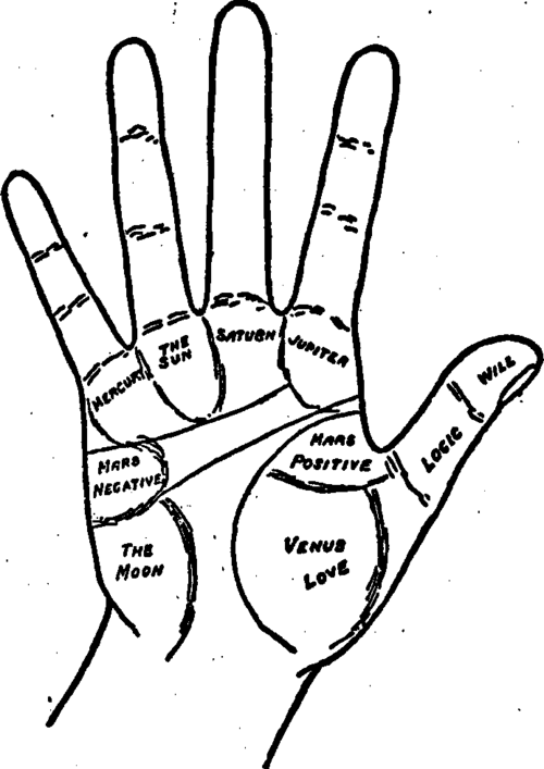 Plate VI Part II The Mounts Of The Hand In my own long experience I could