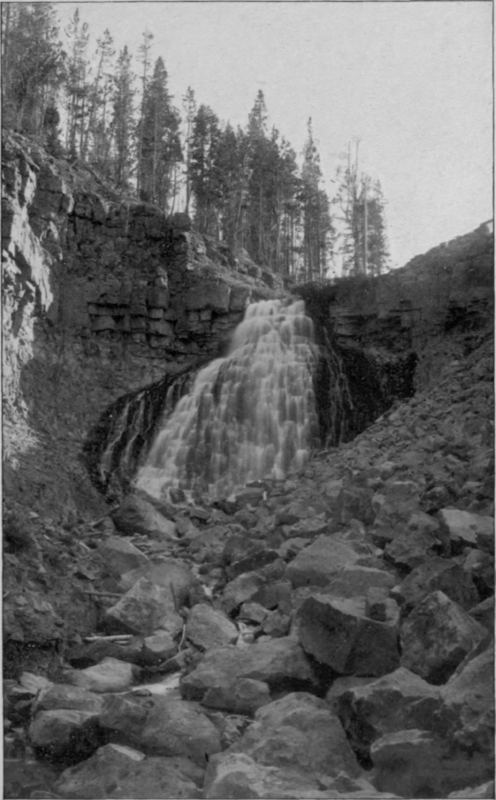 Yellowstone Park Images. Rustic Falls, Yellowstone Park
